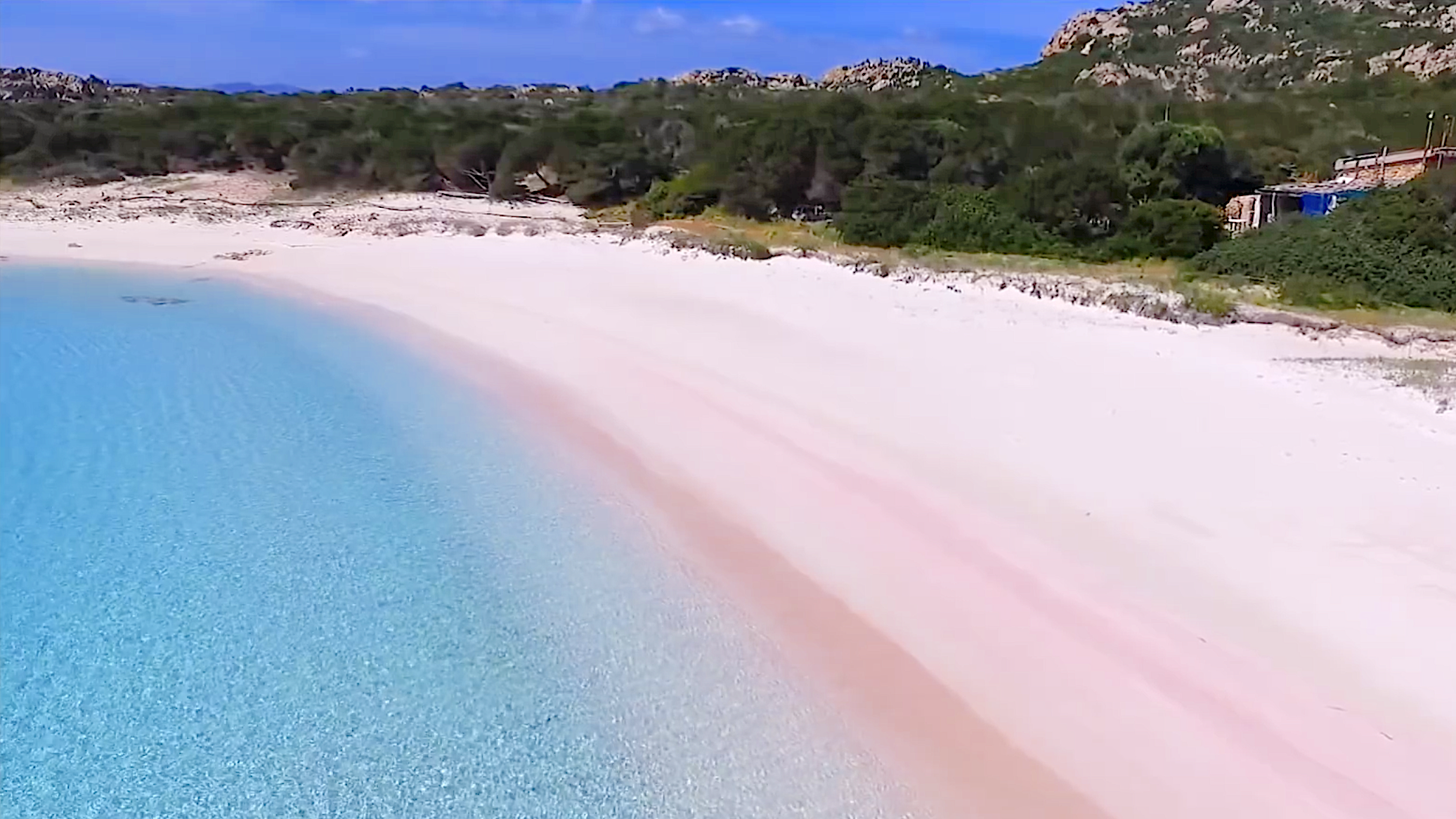 The pink beach of Budelli